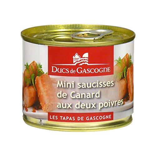 Ducs de Gascogne - Mini saucisses de Canard aux deux poivres 160g