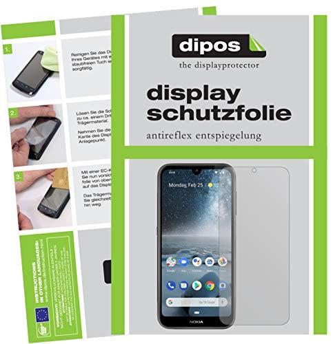 dipos I 6X Pellicola Protettiva antiriflesso per Nokia 4.2 Pellicola di Protezione (3X Anteriore + 3X Posteriore)