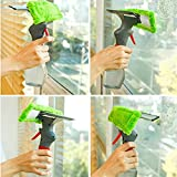 PERFECT SHOPO New 3 in 1 Easy Glass Cleaner 3 in 1 Spray type Cleaning Brush Glass Wiper Window Clean Shave Car Window Cleaner Brush, Random Color