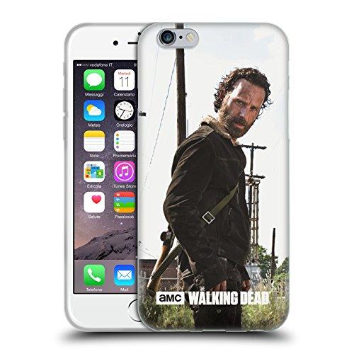 Officiel AMC The Walking Dead Rick Arme À Feu Personnages Filtrés Étui Coque en Gel molle pour Apple iPhone 6 / 6s, Coques iphone