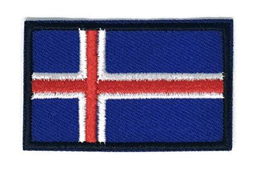 Bandera Islandia bordado Applique parche planchar