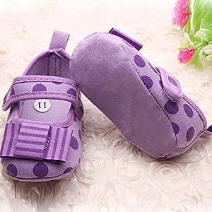 Froomer Zapatos Punto Polka Bowknot Niñas Suave con Suele Zapato Infantil Preandador Primeros Pasos de Froomer