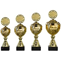 e100 Band&Emblem Turnier Pokale Leichtathletik Pokal Kids Medaillen 3er Set m
