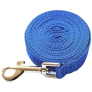 ALCYONEUS Dog Safety Harness Small Medium Size Pet Training Leash Rope Belt (15m, Blue)