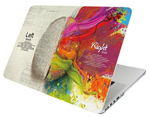 October Elf Macbook Pro 13 Zoll mit Retina Display Schutzhülle Hardcover Folio Schutzhülle 2 in 1 mit Schutzhülle für Modell: A1425 / A1502 (Linkes rechtes Gehirn A) (Macbook Pro A1502 Fall Chevron)