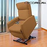 Poltrona relax massaggiante alzapersone craftenwood compact camel 6006 (1000045206)