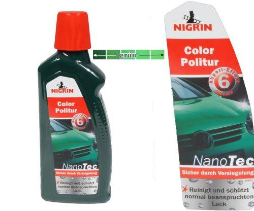 Nigrin NanoTec Color Auto Politur 3in1 Politur,Versiegelung,Glanz (Grün)