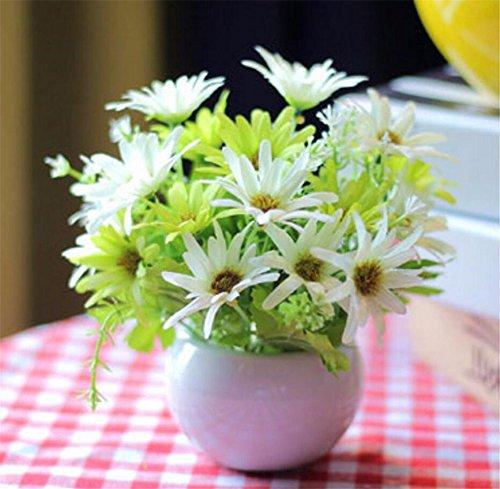 Einfach Seide (MEILI FLOWEREinfache Pastorale Seide Kunststoff Künstliche Blumen künstliche Blume Set Wohnzimmer Tisch Schlafzimmer Home Topfpflanzen, Q)