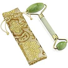 Aussel Rodillo anti-envejecimiento del masaje de la piedra del jade Cuerpo natural de la cara Rodillo sano de la terapia fría