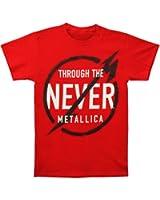 Metallica- Never Red Mens T-shirt