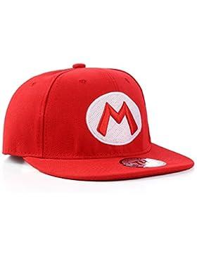 Super Mario Rotes Snapback Baseball Cap