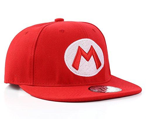 Super Mario Rotes Snapback Baseball (Hat Mario)