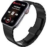 KADES Rem kompatibel med Apple Watch serie 4 serie 5 40 mm/44 mm, massivt rostfritt stål länkarmband kompatibelt med iWatch S