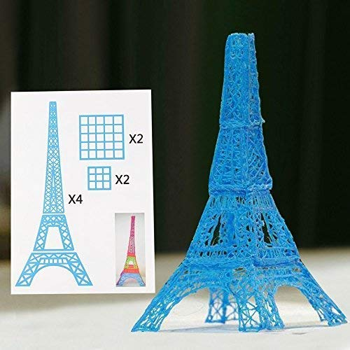 3D Pen Schablonen,3D Pen Stencils 3D Drucker Stift Papier Stencils/ 20 Seiten Verschiedene Papier Patterns/ New Design Papier Formen für 3D Druck Feder,3D-Zeichnungs Feder und 3D Gekritzel Feder/ 3D-Modellbau Arts & Crafts Zeichnung/ Bunte 3D Druckmuster. - 4
