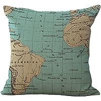 ulooie creativo sofá cómodo mundo mapas manta almohada Funda ...
