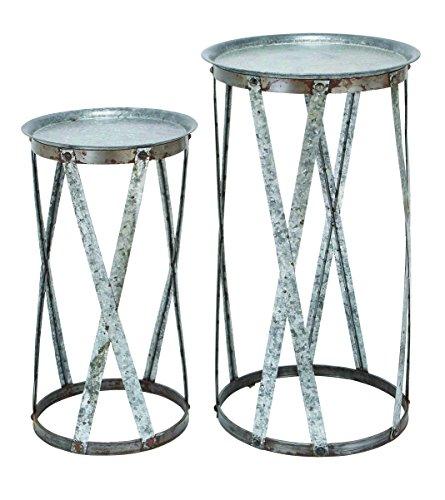 Benzara herkömmlichen Decor Metall Ständer, Set von 2