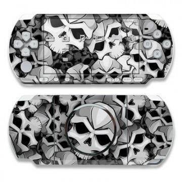 Sony PSP 3004 Skin Gehäuse Tattoo modding Aufkleber + Menü Wallpaper - Bones (Psp Skin Aufkleber)