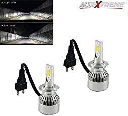 AllExtreme C6 H7 Conversion Kit 36W Car3800LM 6000K White HID Waterproof LED Headlamp Bulbs (Set of 2, AEC6H001)