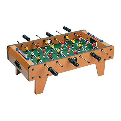 8 de Trèfle 28-C2-149 Mini Babyfoot de table sur pieds Avec 2 panneaux de scores et 2 balles Bois métal et plastique