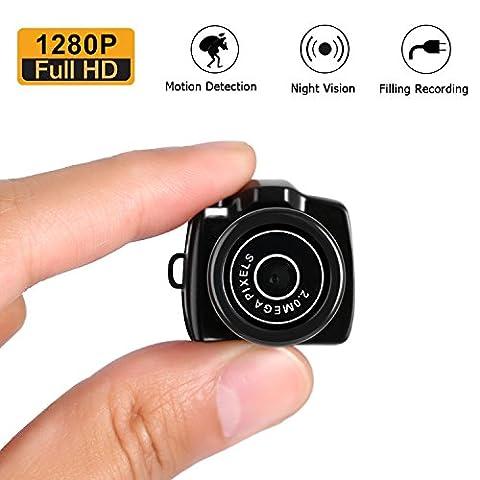 Camera de Surveillance Mini LESHP Mini Webcam Caméscope Sans Fils pour Sécurité de Famille Enregistreur Vidéo DVR Webcam pour la Sécurité
