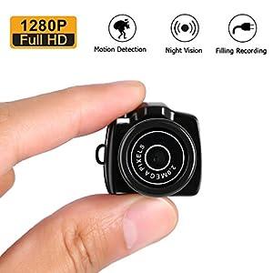 LESHP Tragbare Mini-Kamera mit Videofunktion, 1280P