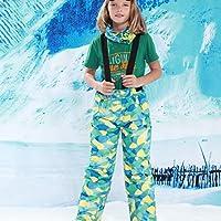 Detectoy Niños Niños Invierno Cálido Al Aire Libre Pantalones de esquí Impermeables Baberos Pantalones de Nieve