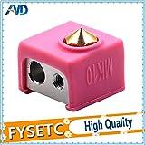 Laliva 3D-Drucker - 2 Stück MK10 rosa Silikonsocken, statt Keramik-Isolierung für Wanhao i3 Flashforge Silikon Heizblock Abdeckung