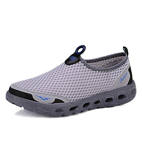 Casual Suede Shoe Männer und Frauen Sandalen sind lässig atmungsaktiv und leichte Art Laufschuhe für Liebhaber Wasser Schuhe Herren Sneaker (Color : Light Gray, Größe : 41 EU) -