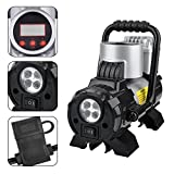 KZKR Digital Portable Air Compressor Tyre Inflator Pump,Quiet without Vibration,120PSI 12V with LED Working Light For Car/Sedan/Motor/Bicycle/Ball/Hovercraft