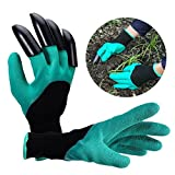 Itian Gants de génie de jardin Gants de jardin en plastique ABS pour planter, creuser et désherber (bleu + noir)