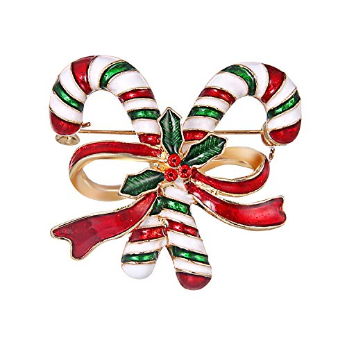 Petalum Weihnachtsgeschenk Weihnachtsbrosche Pin Damen Brosche Kleidung Dekoration Mädchen Brosche Schmuck Zubehör Socken Schneemann usw Kunstwerk