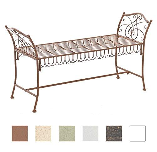 CLP Gartenbank SHERAB im Landhausstil, aus lackiertem Eisen, 125 x 43 cm (aus bis zu 6 Farben...