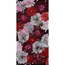 Angie Decoration Floral Rojo Cuadro, Acrílico, 40x80 cm