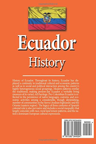 Ecuador History: Pre-Hispanic Era, Discovery and Conquest, Spanish Colonial Era, Society, Economy, Government, Politics