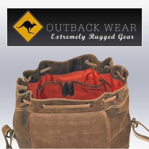 Großer Wanderrucksack aus geöltem Buffalo Leder . Extremely rugged Outback Wear. Dark Muskat