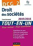 DCG 2 - Droit des sociétés 2015/2016 - 8e éd - Tout-en-Un