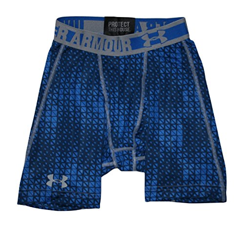 Under Armour, Pantaloni corti di compressione Uomo HG Scatter Blue (406)