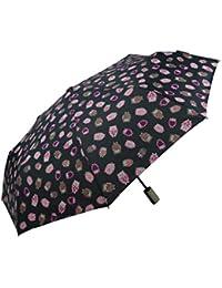 Paraguas plegable con apertura automatica y estampado de buhos