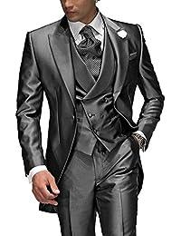 Suit Me Tailored Men Suit 3 piezas de traje de chaqueta de smoking chaqueta de la boda, chaleco, pantalones