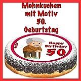Mohnkuchen mit Motiv Geburtstag