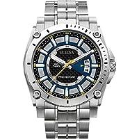 Bulova Precisionist-Orologio da uomo al quarzo con Display con cronografo e cinturino in acciaio INOX color argento 96G131