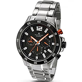 Accurist Mens Chronograph Sports Watch With Stainless Steel Bracelet 7051