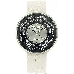 Pandominium London Damen Modeuhr mit weißem Armband und Zirkonia PL116