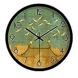 KS Les Non-cochant Moderne Silencieux Horloge Murale Mat DIY pour Chambres Salon Cuisine Bureau 14 Pouces