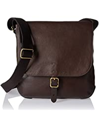 Fossil Men's Buckner Ns City Cross Body Bag, Brown, One-Size