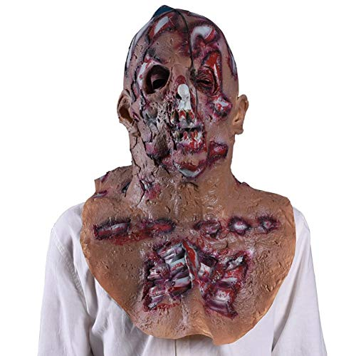 Kostüm Ghost Funny - QCHNES Adult Horror Grimace Hood Mask Lustige Scary Devil Zombie Horror Ekelhafte Kostüm Requisiten Halloween Ghost Festival/Funny Party