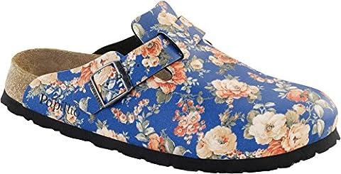 Papillio Clogs ''Boston'' aus Birko-Flor in Rambling Rose Blue 40.0 EU S