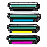 4x High Quality Eurotone Toner Cartridge XXL SET remanufactured für HP LJ Enterprise 500 Color M551 N DN + M551N M551DN Laserjet – Alternative ersetzt CE400A CE400X Black, CE401A Cyan, CE402A Yellow, CE403A Magenta