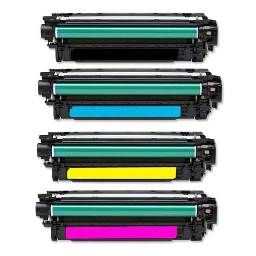 Preisvergleich Produktbild 4x High Quality Eurotone Toner Cartridge XXL Set remanufactured für HP Pro Serie CP4025 CP4520 CP4525 - CP 4025 4520 4525 N DN XH – Alternative ersetzt HP CE260A CE261A CE262A CE263A