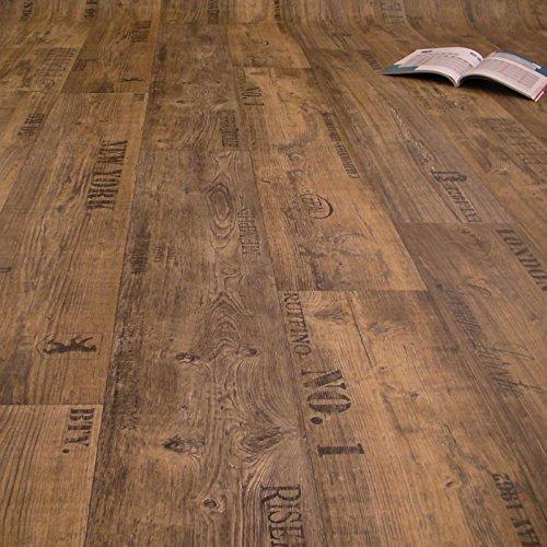 PVC Bodenbelag Rustikal Dunkel mit Aufdruck Breite 4 m 9,95 € p. m²